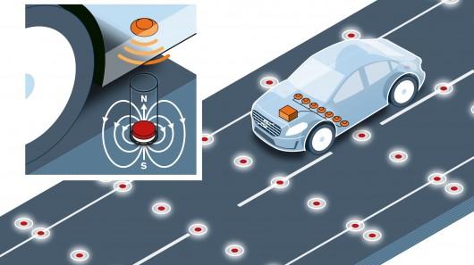 """沃尔沃用磁铁让自动驾驶汽车不""""出轨"""""""