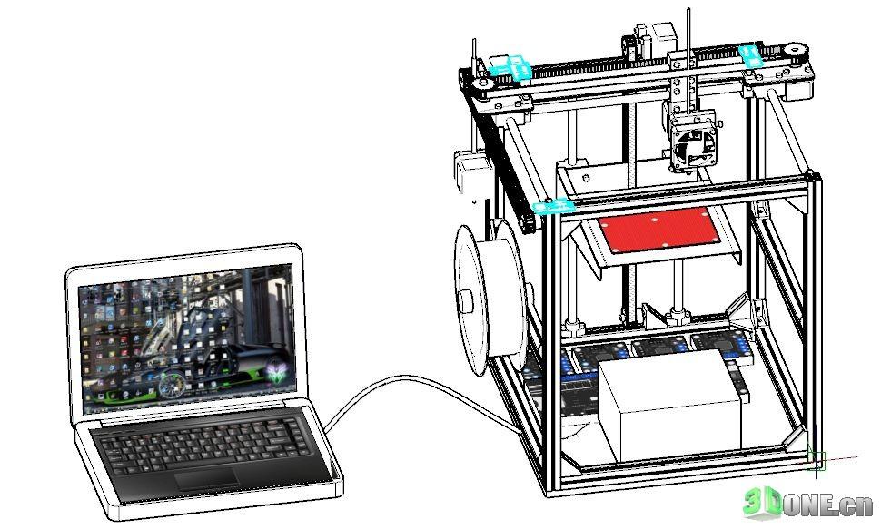 [DIY改装] DIY全金属框架的3D打印机(更新软件)