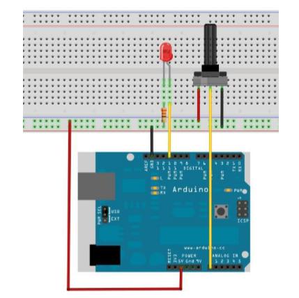 Arduino PWM 调控灯光亮度实验