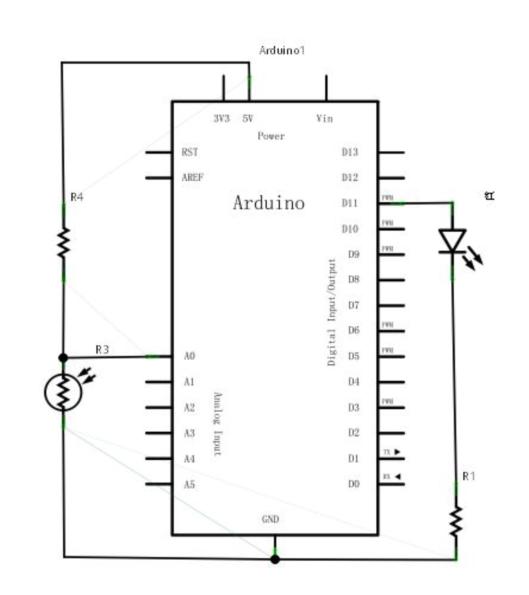 Arduino 入门到精通 感光灯
