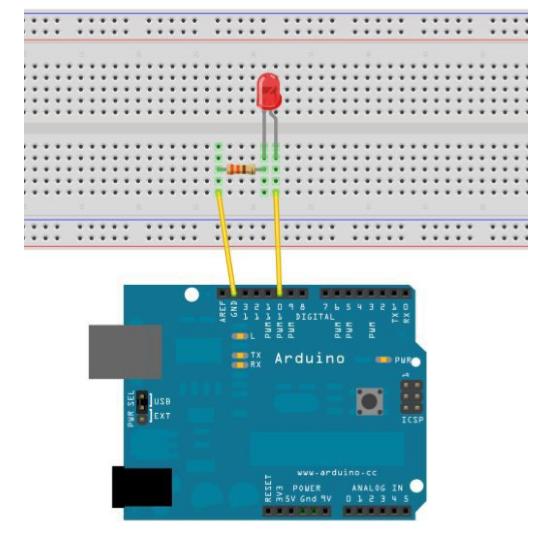 Arduino 第二个程序LED灯闪烁