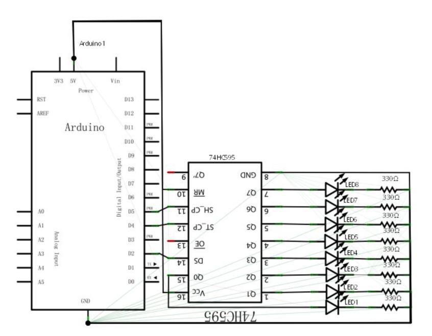 Arduino 入门到精通 74HC595实验