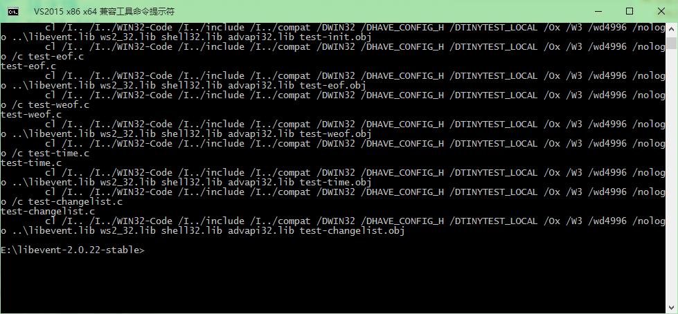 windows下编译及使用libevent