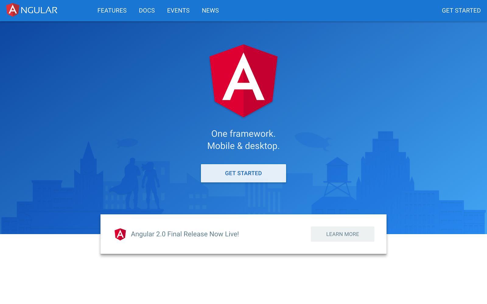 Angular 2.0 Final Release 发布