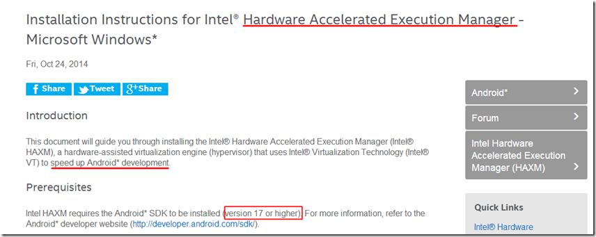 Please ensure Intel HAXM is properly installed and usable
